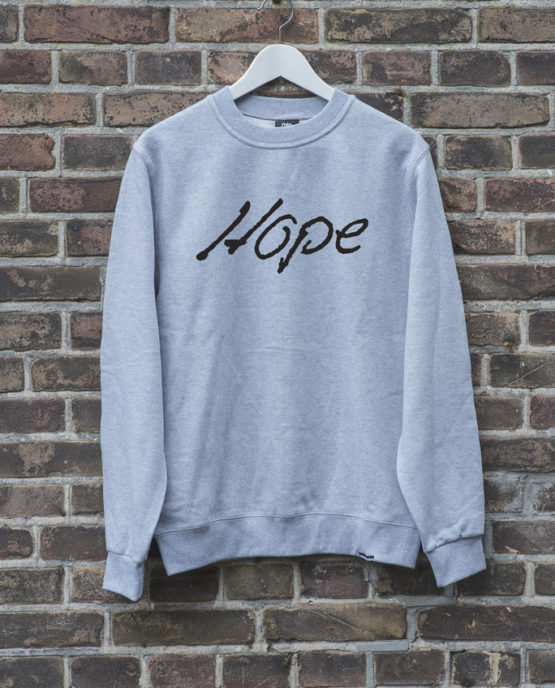 sweater-grijs-HOPE-zwart