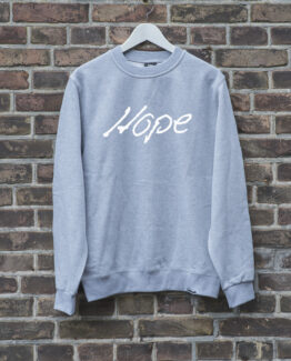 sweater-grijs-HOPE-wit