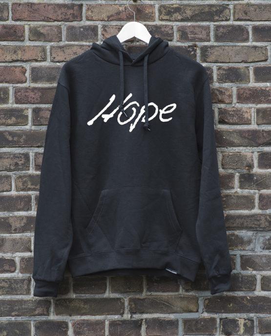 hoodie-zwart-hope-wit