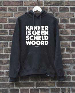 hoodie-zwart-geenscheldwoord-wit