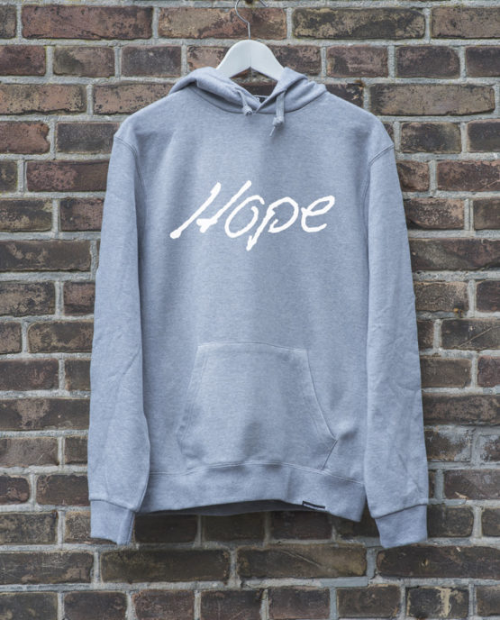 hoodie-grijs-hope-wit